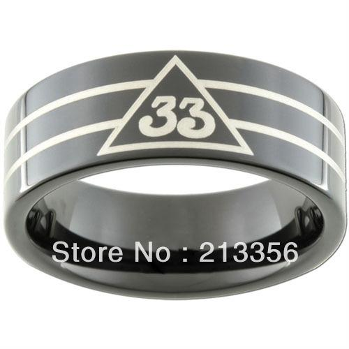 10PCS/LOT FREE SHIPPING!USA WHOLESALES CHEAP PRICE 8MM WOMEN&MENS HIS/HER BLACK PIPE MASONIC MASTER 33RD DEGREE TUNGSTEN RINGS