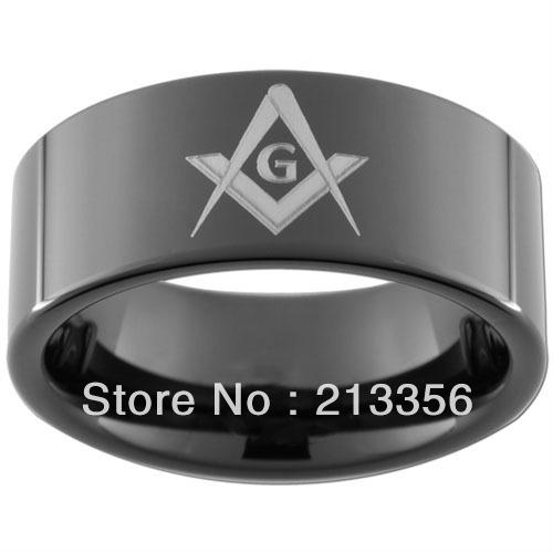 10PCS/LOT FREE SHIPPING!USA WHOLESALES CHEAP PRICE 8MM WOMEN&MENS HIS/HER BLACK PIPE MASONIC FREEMASON MASTER TUNGSTEN RINGS