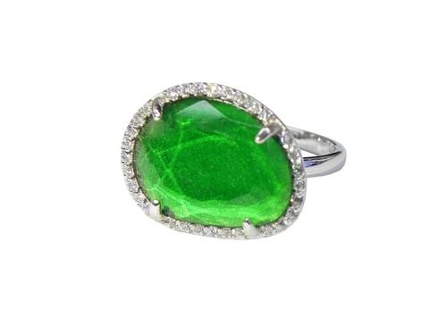 Green Eminence Oval Ring
