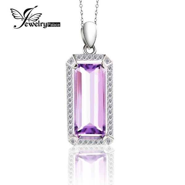 5.2ct Luxury Natural Purple Amethyst Pendant Real Pure 925 Sterling Silver Jewelry Fine Jewelry For Women Christmas Gift