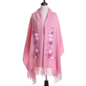 Newest Design 100% Wool Scarf  Winter Scarves TOP Quality Hand Embroidery