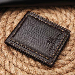 Pidengbao Brand New Men's Purse Card Wallet Vintage Value Leather Money