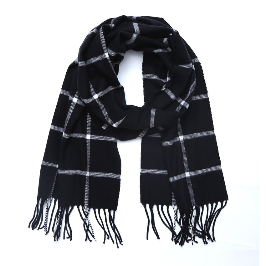 Winter Scarf For Women Men General Children Plaid  Cashmere soft Scarves