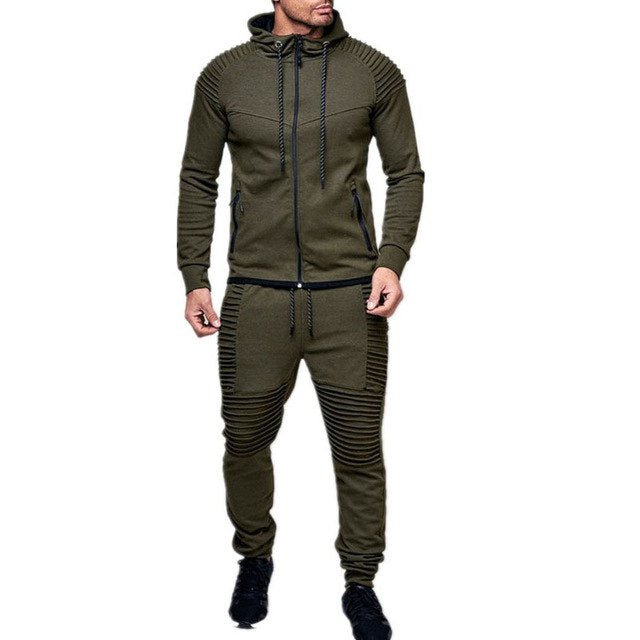 New Men's Outdoor Sports and Leisure Sweater, Pure Cardigan Pure Color Zipper