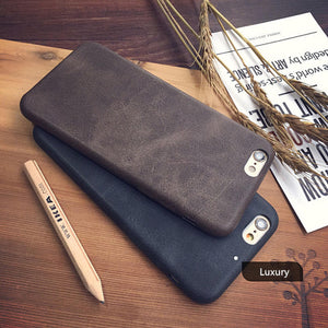 Original Classic Vintage PU Leather Case for iPhone 7 6 6S 8 Plus X XS luxury