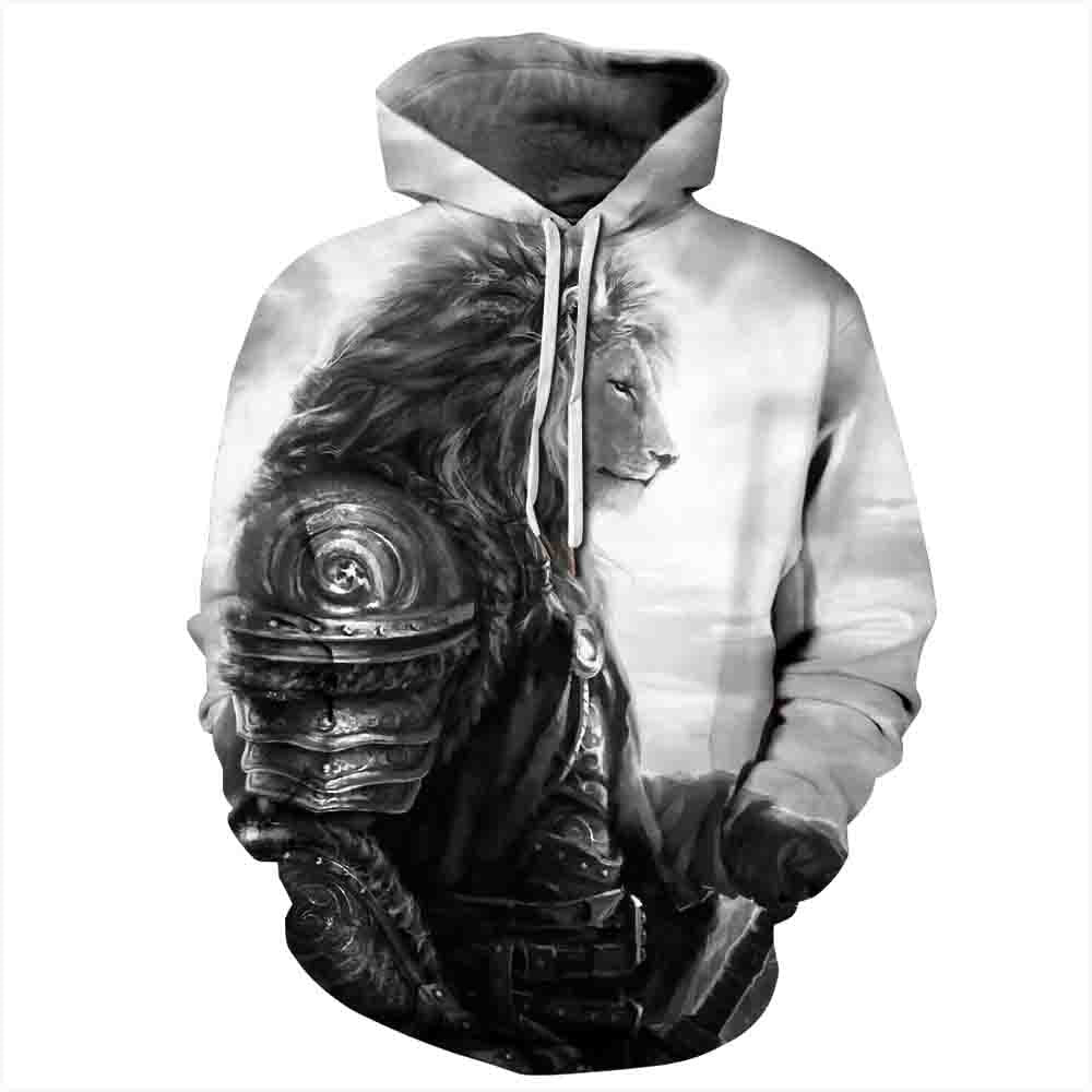Newest Couples Hooded Sweatshirts Men/women 3d Hoodies Lion Printed