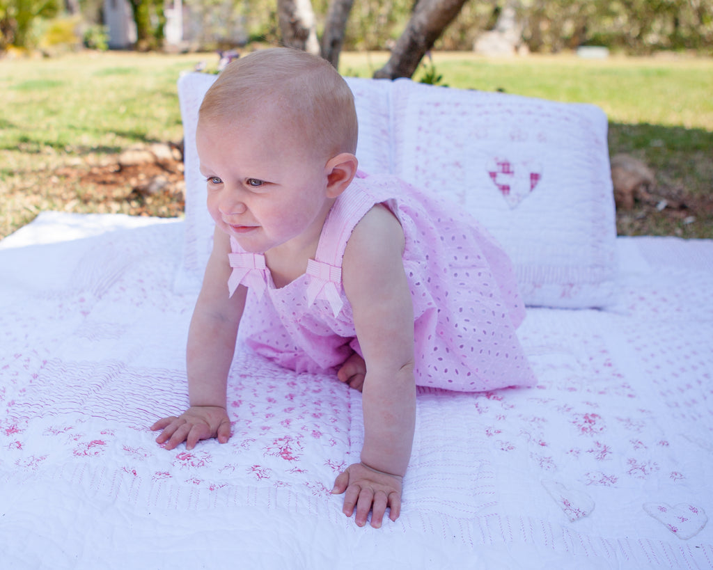 Mayoral Pink Di-Cut Dress with Underskirt - 6 mths