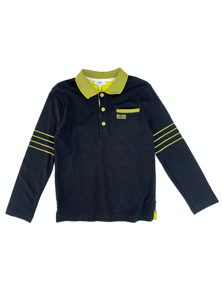 Hugo Boss Long Sleeved Polo - 10 yrs