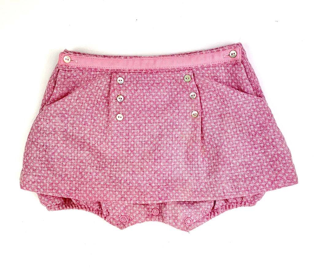 Darcey Brown Wool Skirt with Fitted Pants - 18 mths