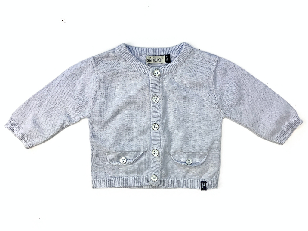 Jean Bourget Pale Blue Cardigan - 1 mth