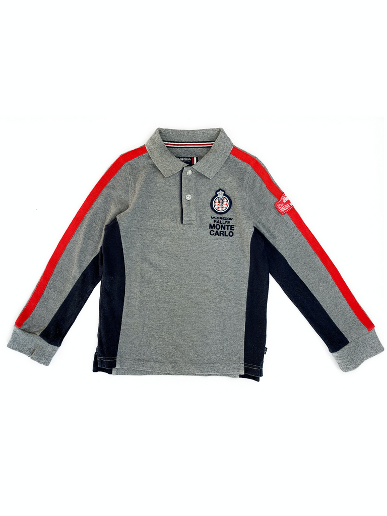 McGregor Monte Carlo Grey Polo Shirt - 8 yrs
