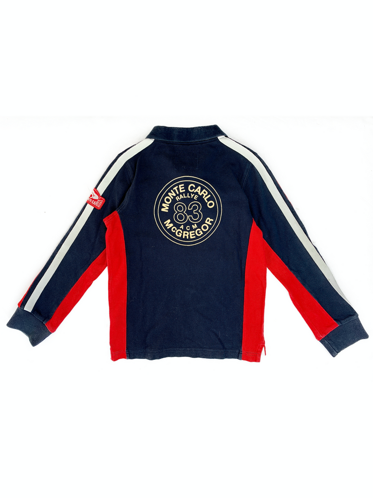 McGregor Navy and Red Polo Shirt - 10 yrs