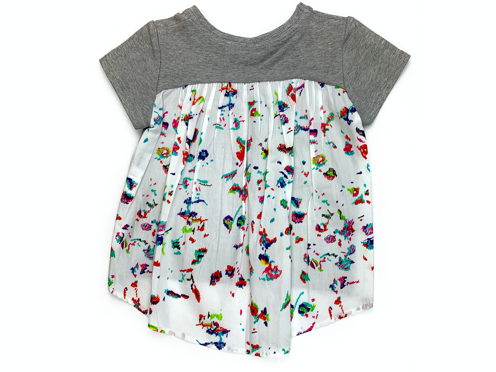 Mis Crios Grey and Splatter Print top - 4 yrs