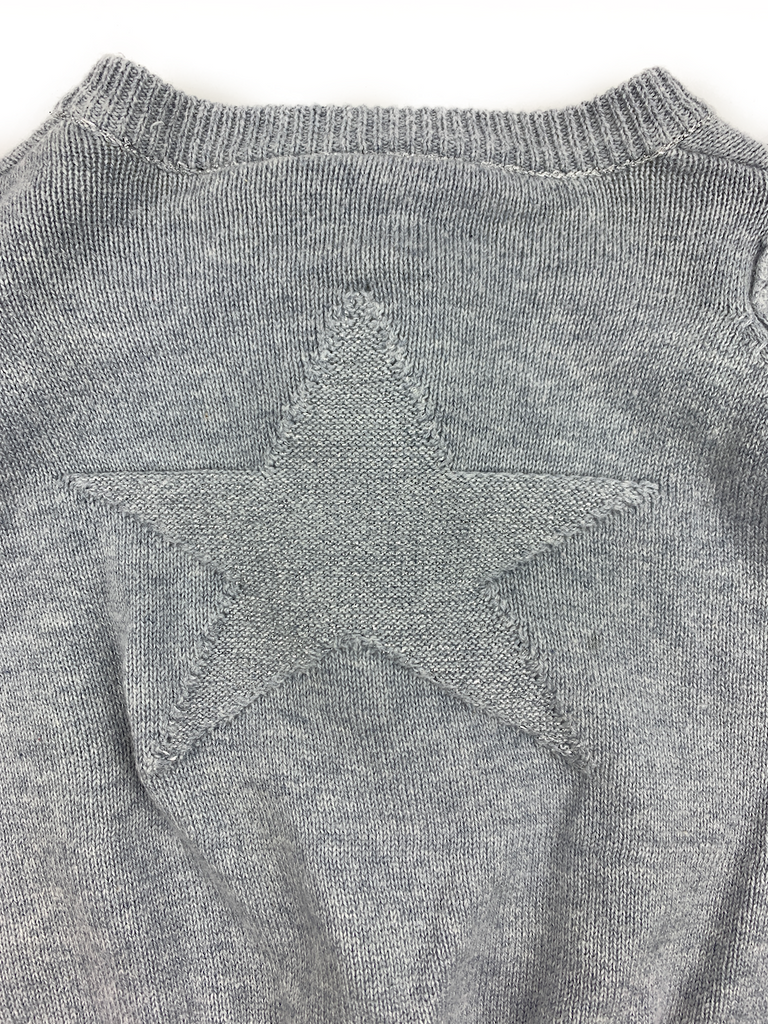 Molo Grey Star Cardigan - 3/6 Mths