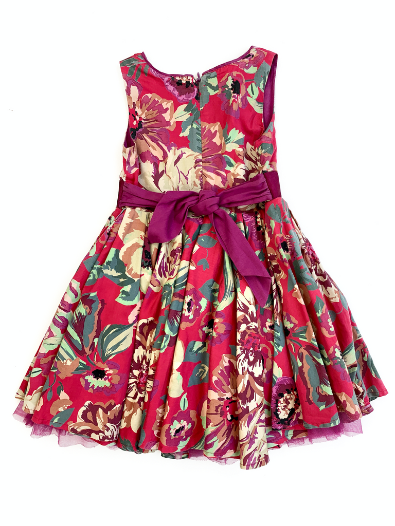 Monsoon Flower Dress with Sequins - 3/4 yrs