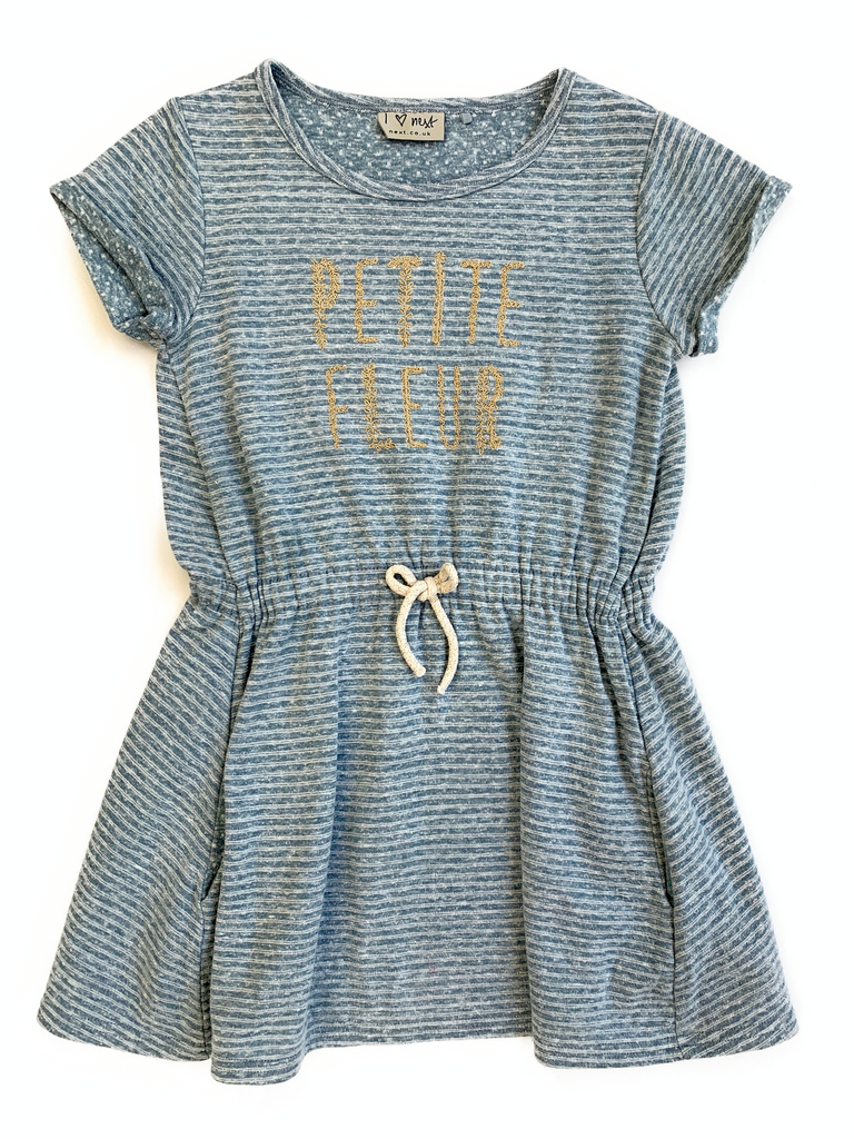 NEXT Stripped Dress with Gold Thread - 5 yrs