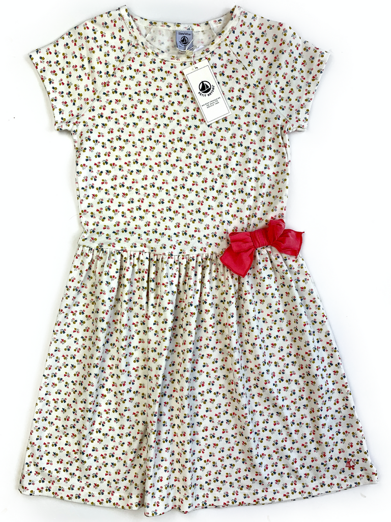 Petit Bateau Dress With Side Bow - 10 yrs
