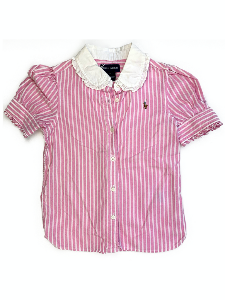 Ralph Lauren Pink Stripped Shirt - 5 yrs