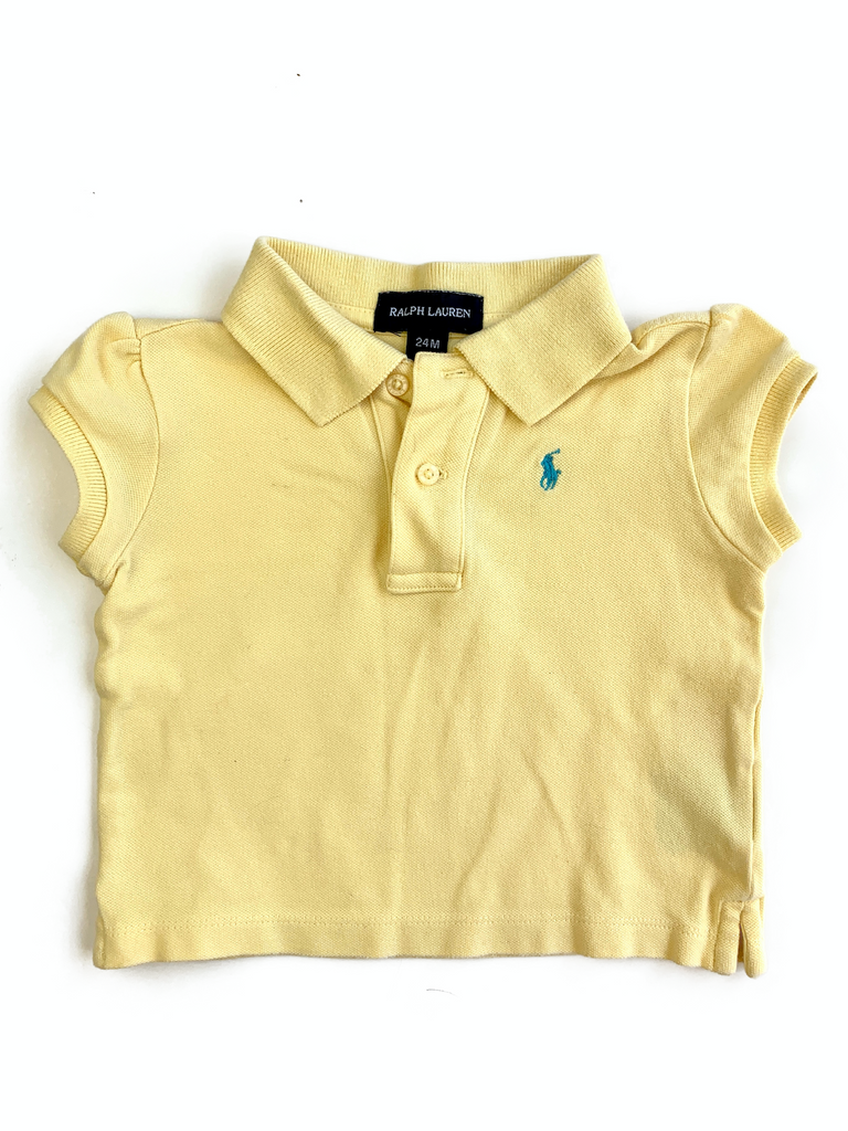 Ralph Lauren Yellow Polo Shirt - 24 mths