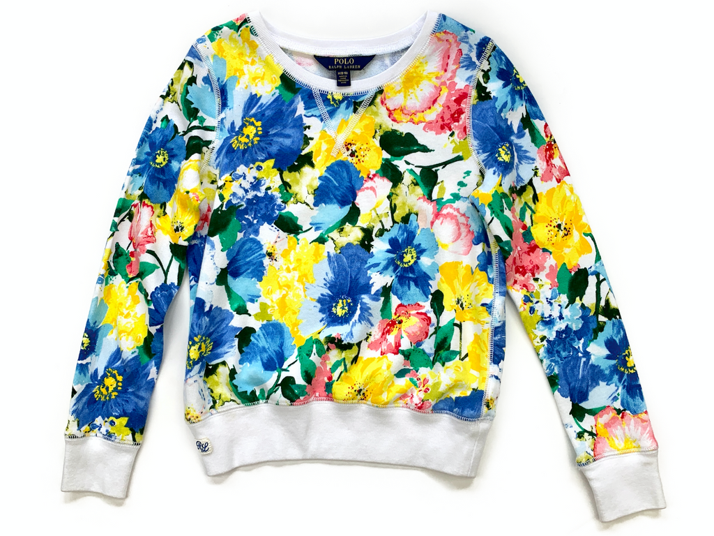 Ralph Lauren Floral Print Sweater - 8/10 yrs