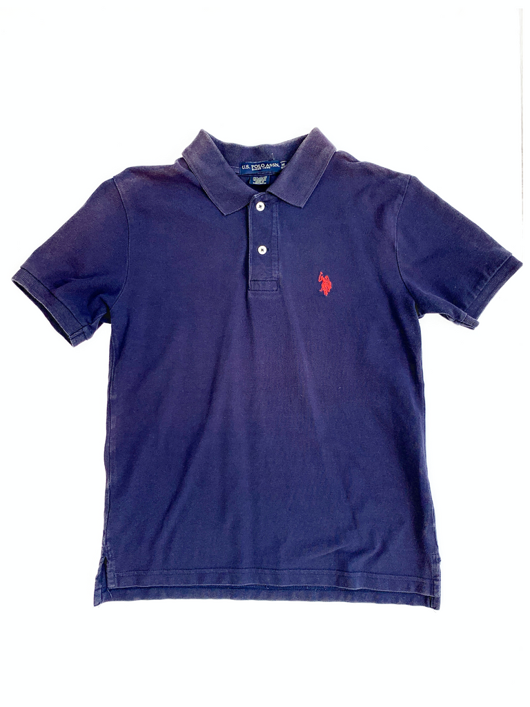 Ralph Lauren Navy Polo Shirt - 10/11 yrs
