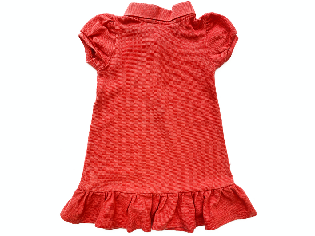 Ralph Lauren Orange Polo Dress - 9 mths