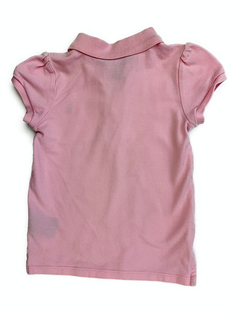 Ralph Lauren Pink Polo with Ruffle - 6 yrs