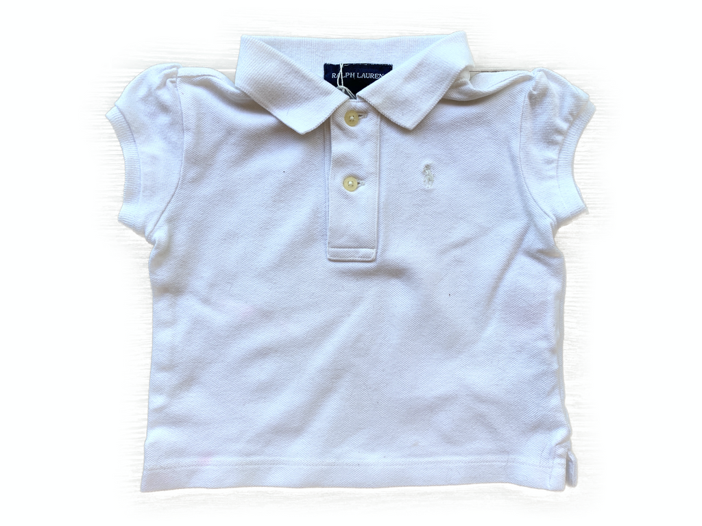 Ralph Lauren White Polo Shirt - 12 mths