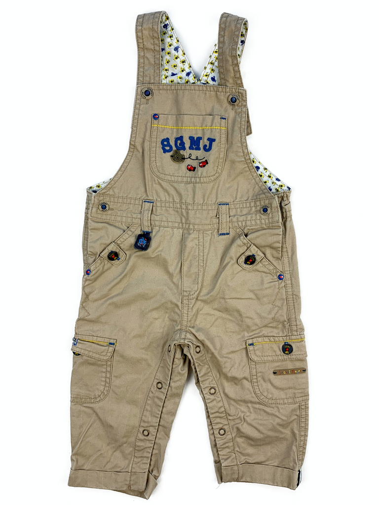 Sergent Major brown cord dungarees - 12 mths
