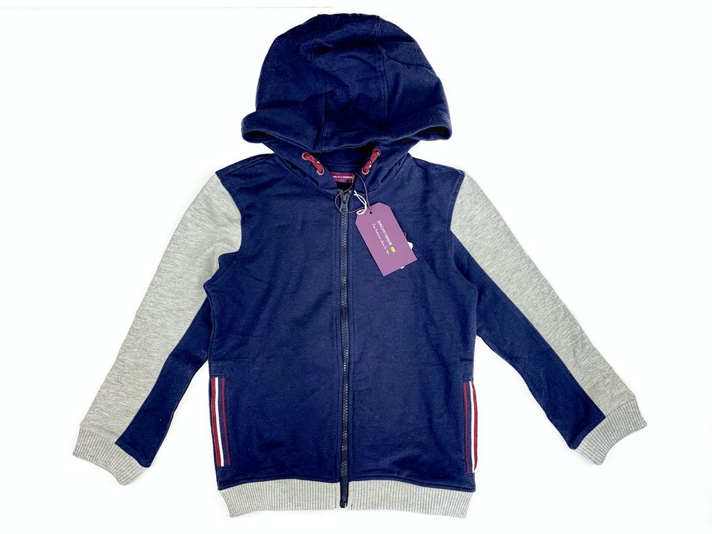Sergent Major Navy and Grey Hoodie - 7 yrs