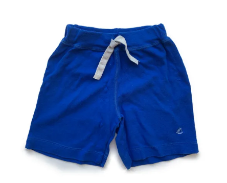 Petit Bateau blue cotton shorts - 4 yrs