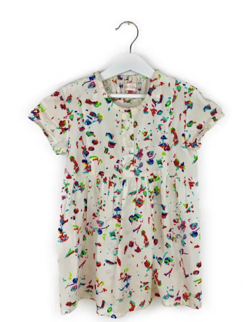 Mis Crios Crayon Print dress - 4 yrs
