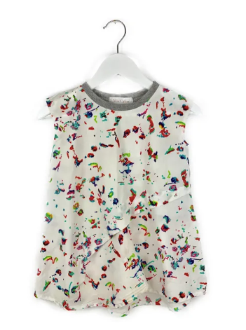 Mis Crios Crayon Print Sleeveless dress - 4 yrs