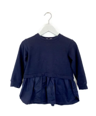 Mis Crios Navy Jersey top - 4 yrs