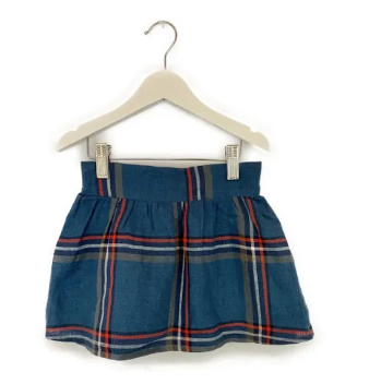Mis Crios checkered linen skirt - 5 yrs