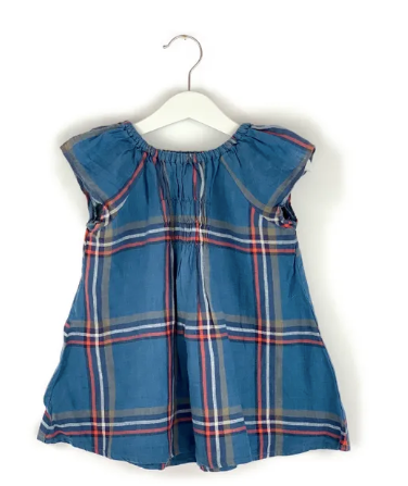 Mis Crios Short Sleeve Checkered Top - 5 yrs