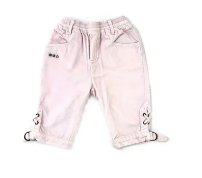 Ikks pink velour trousers - 18 mths