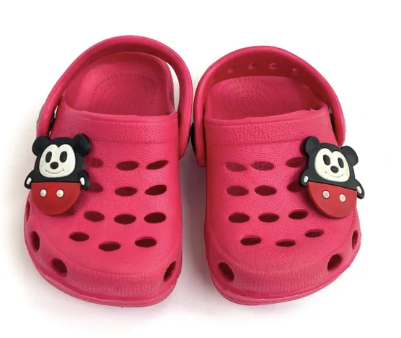 Crocs with Micky Mouse brand charm -