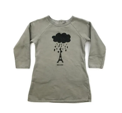 Bobo Choses marl/grey jersey dress - 3 yrs