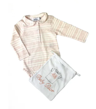 Baby Dior long sleeved body and gift bag - 9 mths