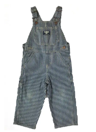 OshKosh stripped dungarees - 12 mths