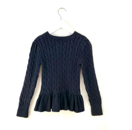 Ralph Lauren cotton peplum cardigan - 6 yrs