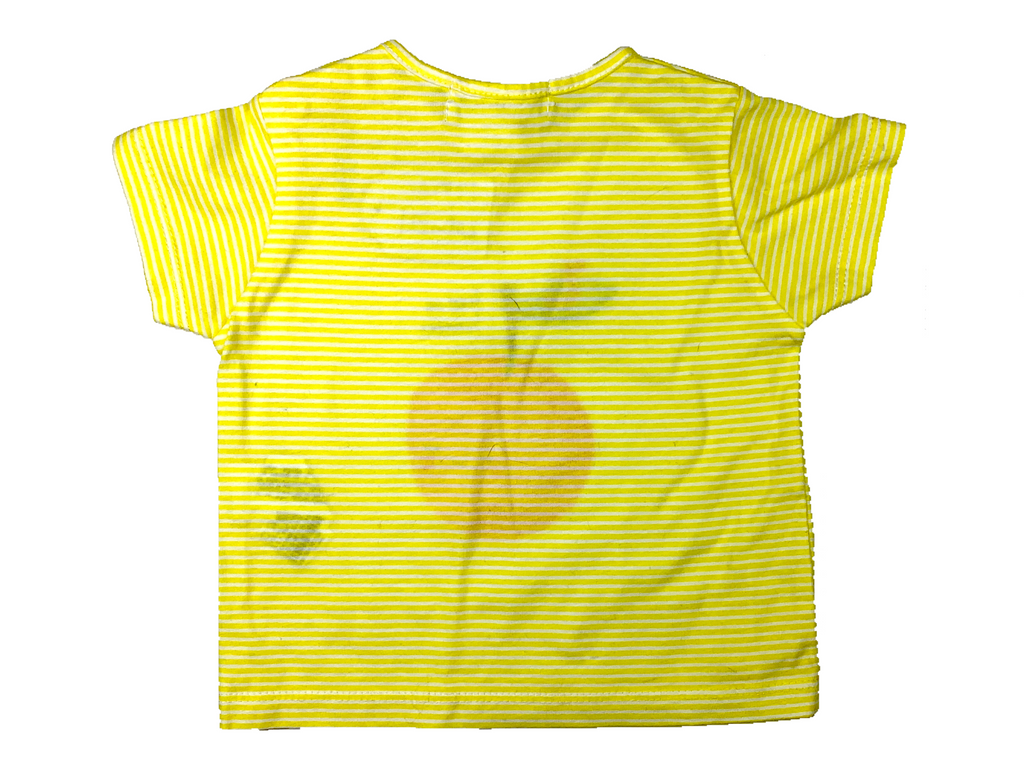 Zara Yellow T-Shirt - 1/3 mths