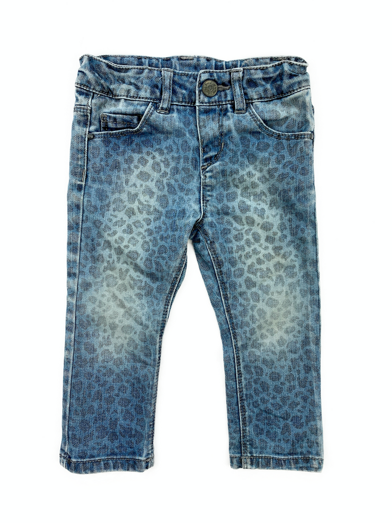 Zara Baby Animal Print Jeans - 12/18 mths old