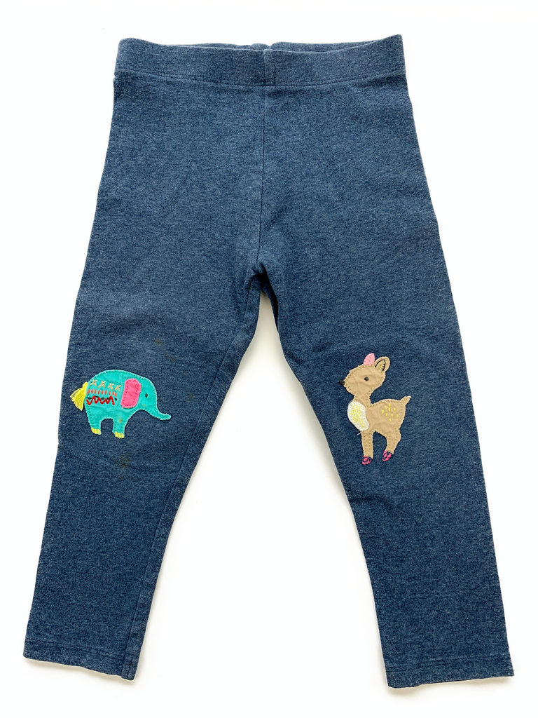NEXT Leggings with Animal Knee Applique - 2/3 yrs