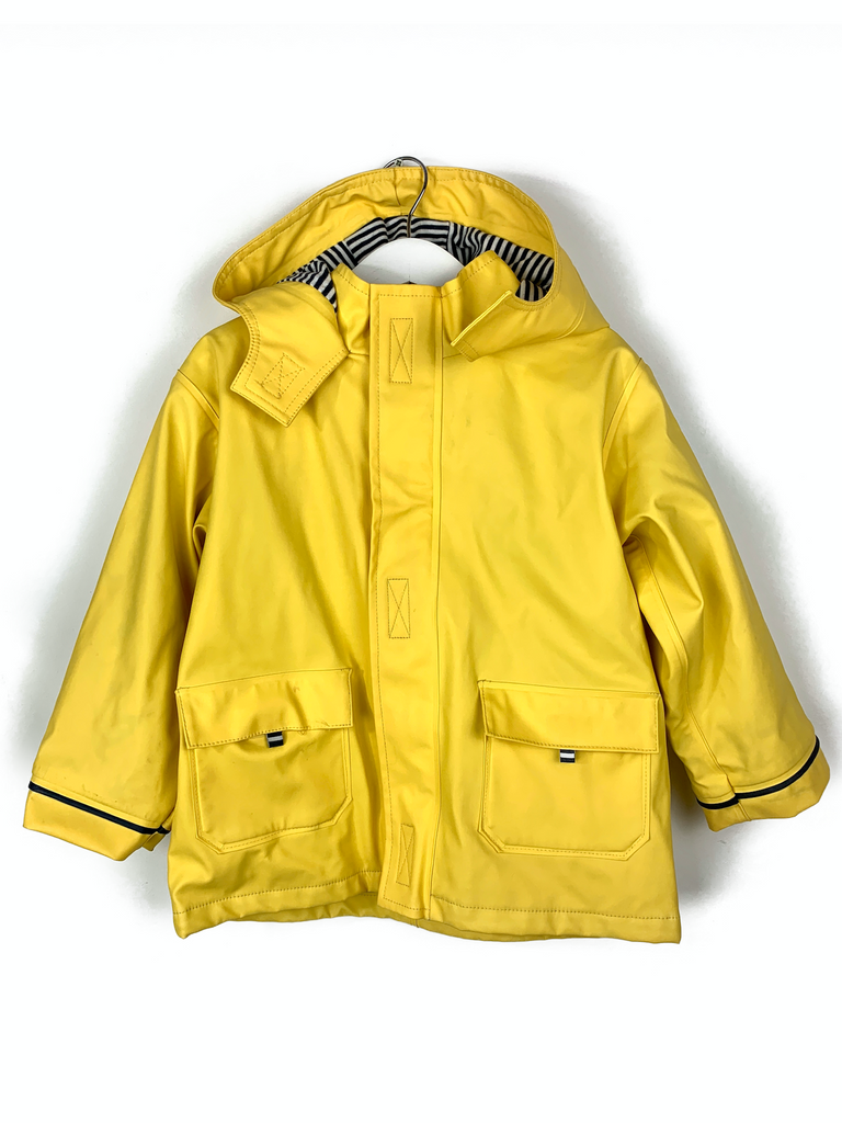 JoJo Maman Bebe Waterproof raincoat with cotton lining - 4/5 yrs
