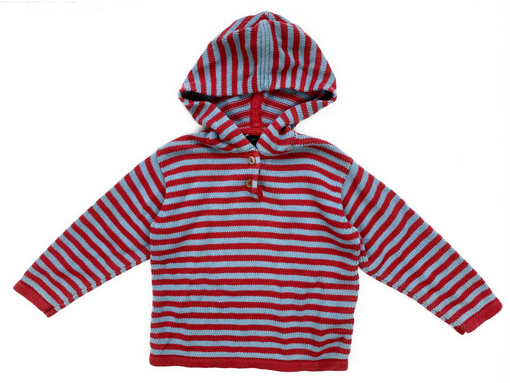 Mini Boden Striped Hoodie Jumper - 3/4 yrs