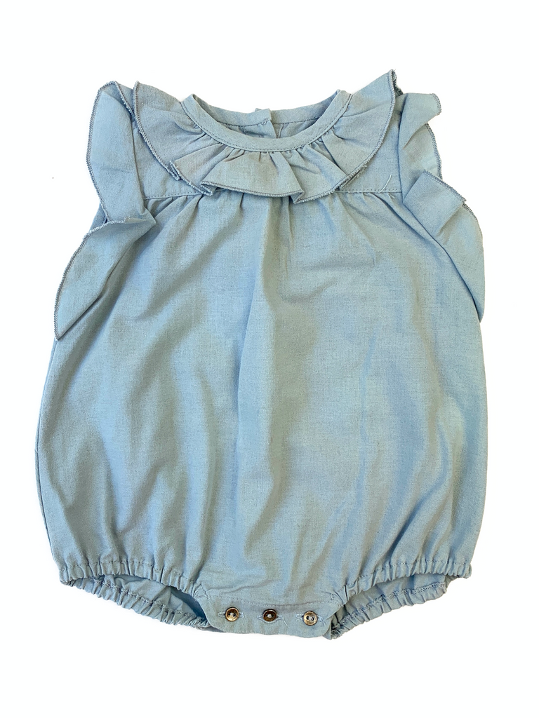 Message In The Bottle Cotton Romper - 3 mths