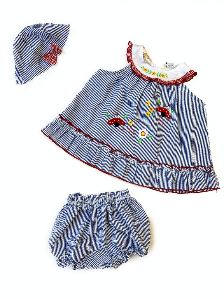 Little Billy Dress, Hat and Pants Set - 3/6 mths