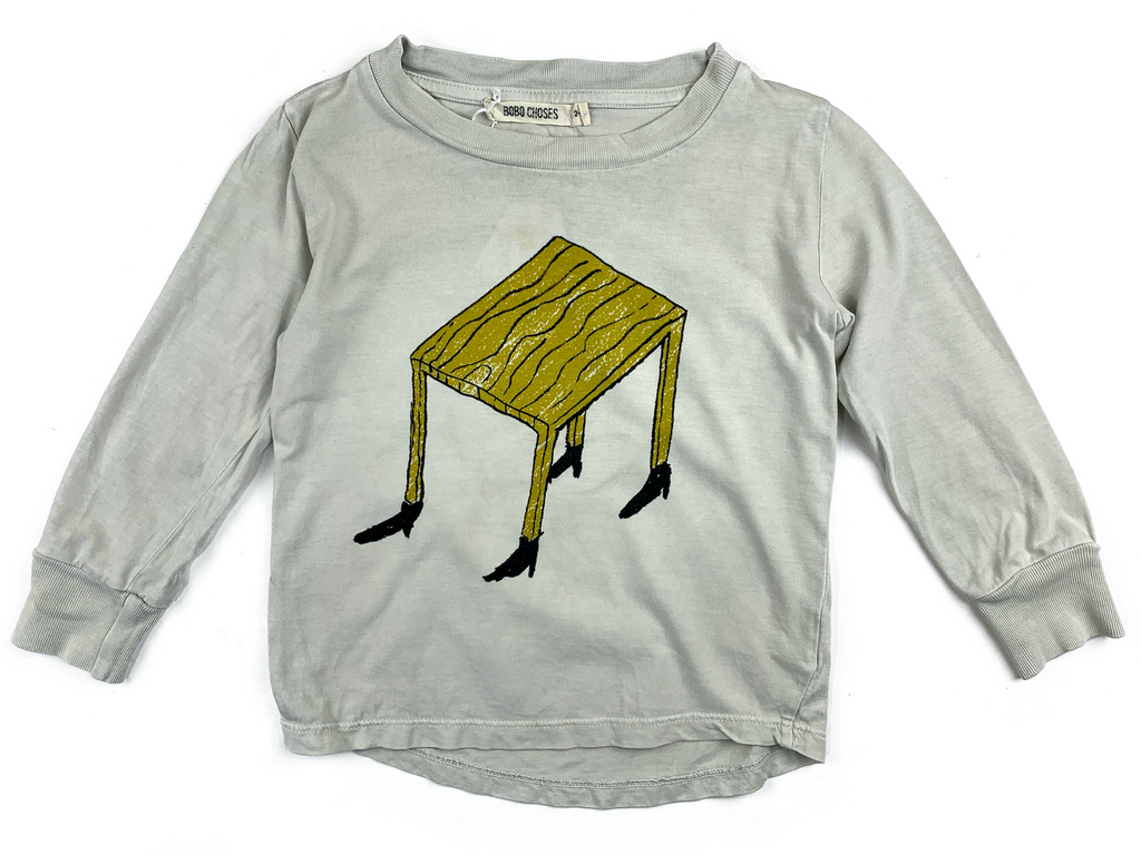 Bobo Choses Long Sleeved T-Shirt with Table Design - 2/3 yrs